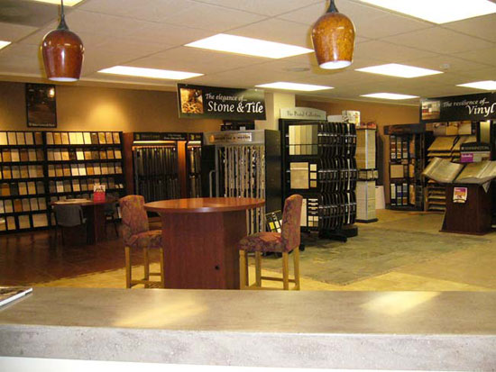 Abbey Capitol Floors & Interiors showroom features carpet, hardwood, tile / stone, laminate, vinyl, area rugs, and window fashions in Olympia Washington