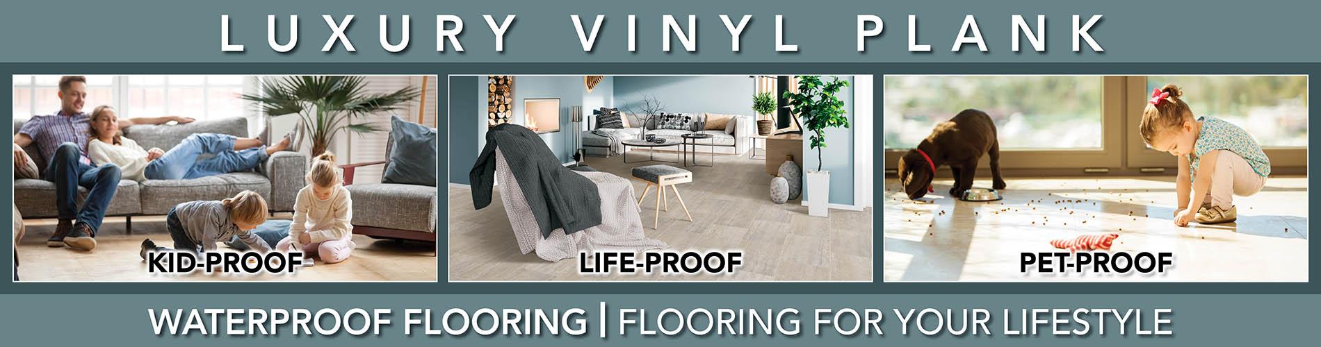 Luxury Vinyl Plank Waterproof Flooring at Abbey Capitol Floors & Interiors in Olympia, WA